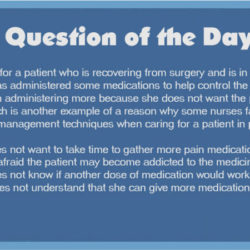 QOD 70: Pain Control After Surgery (Ethical/Legal/Basic Care and Comfort)