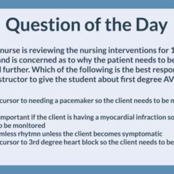QOD 031: Adult 1st degree heart block (Management of Care)